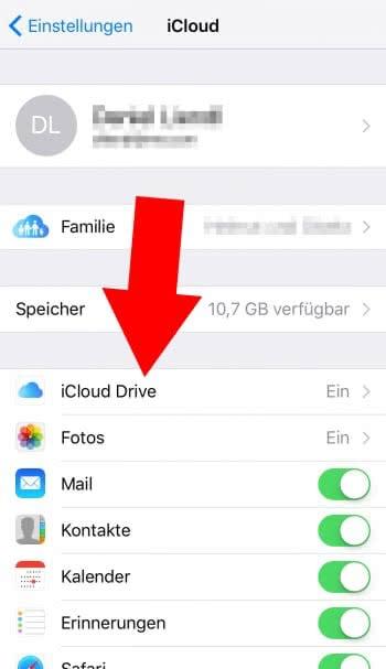 iCloud Drive App am Homescreen anzeigen