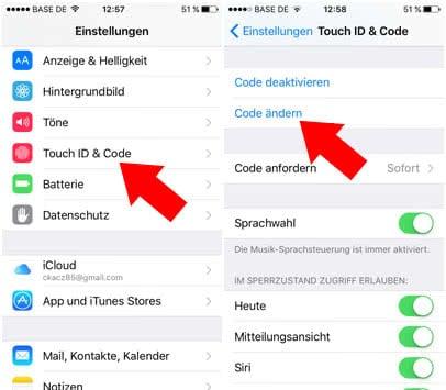 iOS 9 Privatsphäre-Einstellungen - Sechstelligen Passcode einrichten