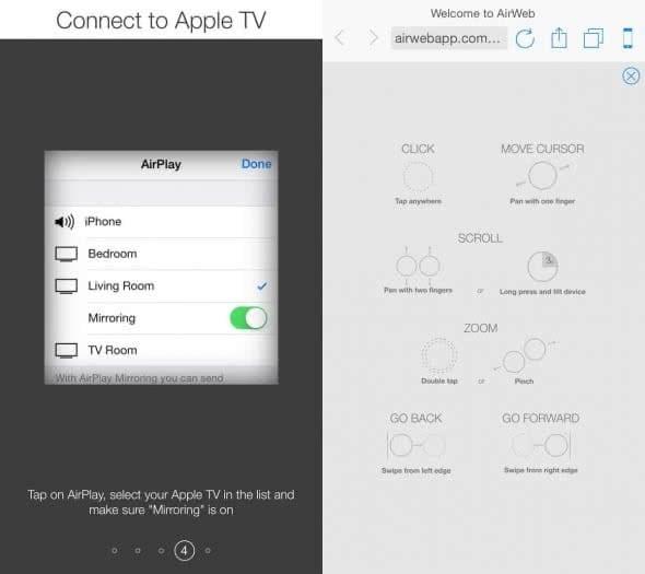 Mit dem iPhone am TV-Gerät im Web surfen