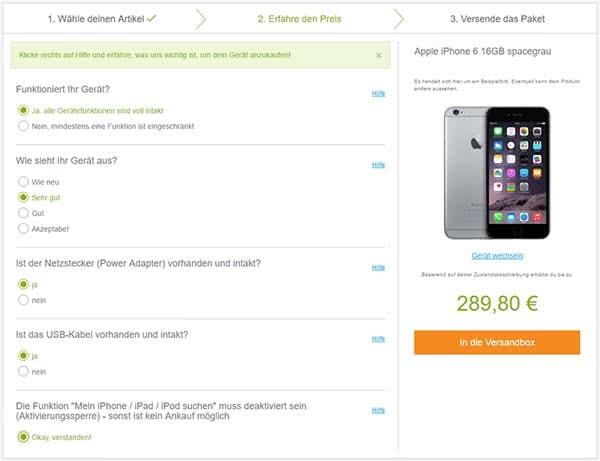 iPhone 6 verkaufen mit reBuy.de