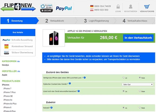 iPhone 6 verkaufen mit flip4new.de