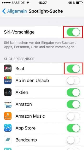 iOS 9 - iPhone schneller machen durch Spotlight-Suche deaktivieren