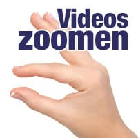 Videos zoomen während der Wiedergabe