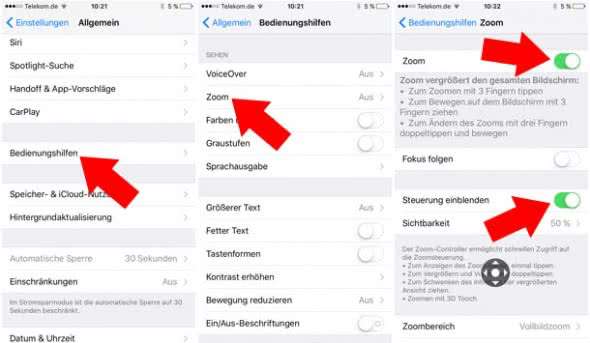 3D Touch - Zoom-Funktion aktivieren am iPhone 6s