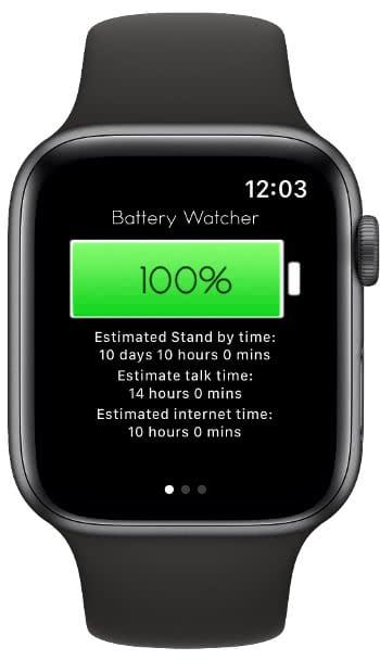 iPhone Ladezustand auf der Apple Watch