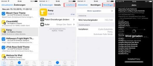 Cydia-App installieren