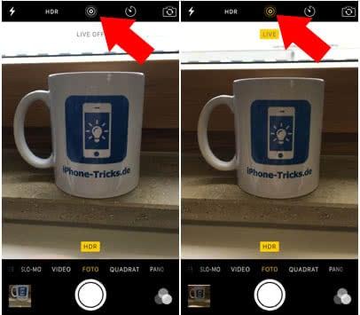 Live Photos aktivieren, erstellen und nutzen