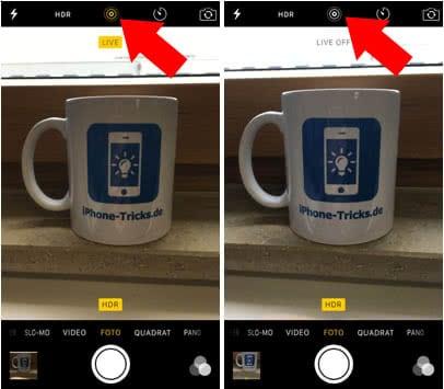 Live Photos deaktivieren und Akku sparen am iPhone 6s