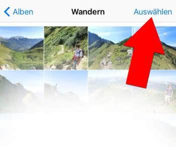 iOS 9 – Mehrere Fotos markieren