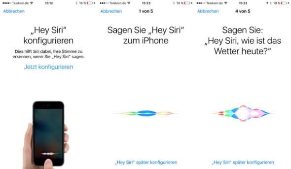 Siri Stimmerkennung - Hey Siri konfigurieren