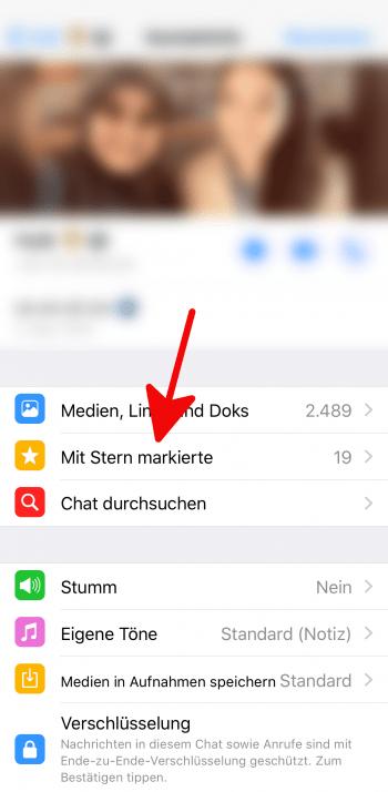 Whatsapp Mit Stern Markiert