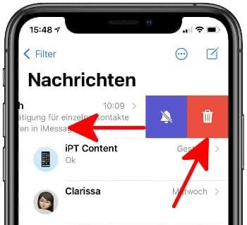 Chat-Verlauf löschen in iMessage