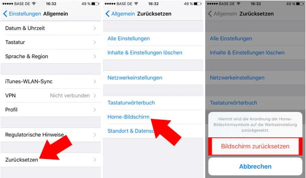 iPhone Apps sortieren alphabetisch