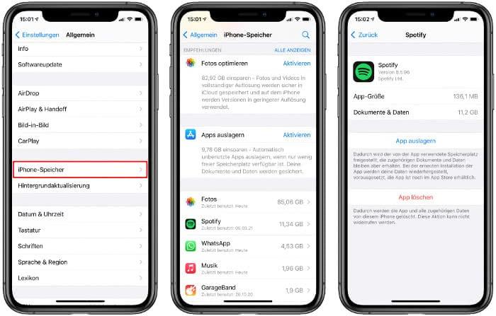 iPhone-Speicher verwalten