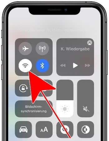 WLAN deaktivieren auf dem iPhone