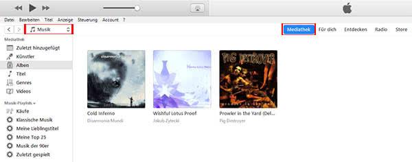 Musik auf iPhone laden mit iTunes