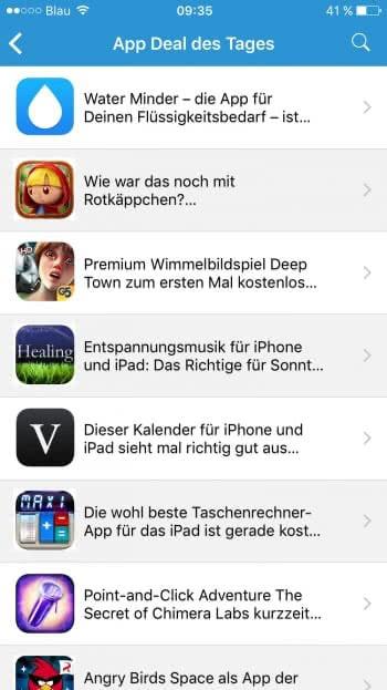 Kostenlose Apps - App Deals des Tages