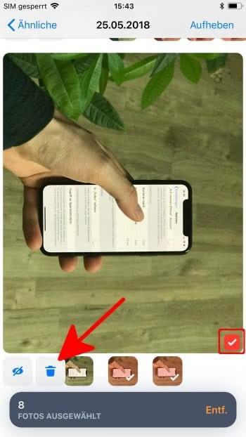 Doppelte Fotos löschen auf dem iPhone mit der Gemini Photos-App