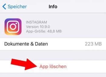 """""""Dokumente & Daten"""" von Apps löschen"""
