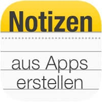 Notizen erstellen aus Safari und anderen Apps