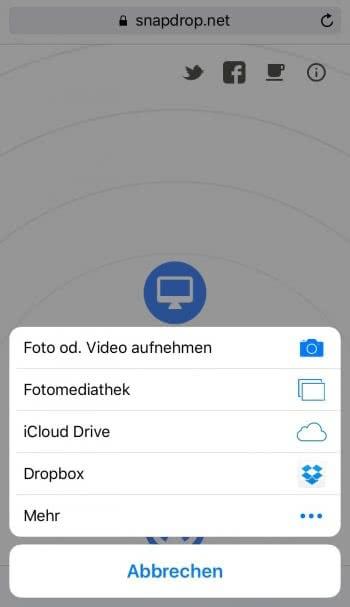 Dateien mit jedem beliebigen Gerät teilen