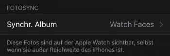 Live Photo Watch Faces mit Apple Watch synchronisieren