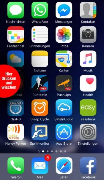 App Switcher mit 3D Touch öffnen