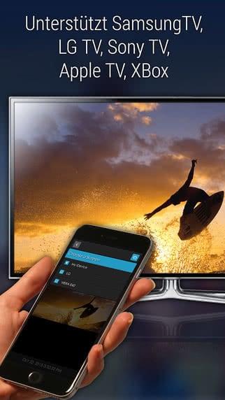 iPhone per iOS App mit Fernseher verbinden