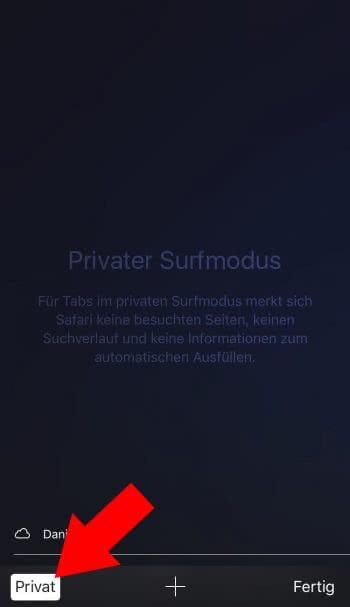 """Privat"" surfen mit Safari"