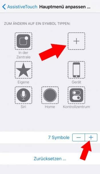 Shortcut für Screenshot aktivieren
