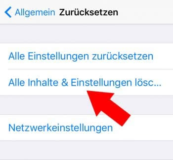 iPhone Akku plötzlich leer - iPhone zurücksetzen