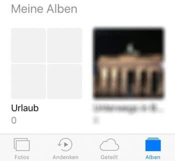 In iPhone Fotos-App verschachtelte Alben erstellen
