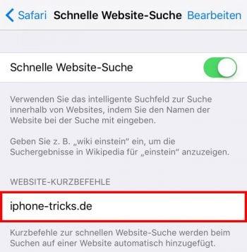 Suchfunktion auf einer Website verwenden