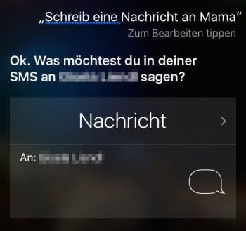 Siri Nachrichten schreiben lassen