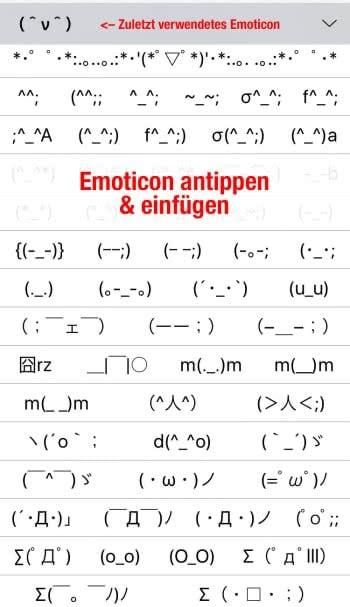 Versteckte Emoticons verwenden