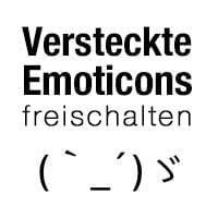 Über 100 versteckte Emoticons freischalten