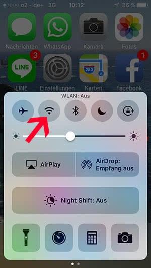 WLAN aus- und einschalten am iPhone
