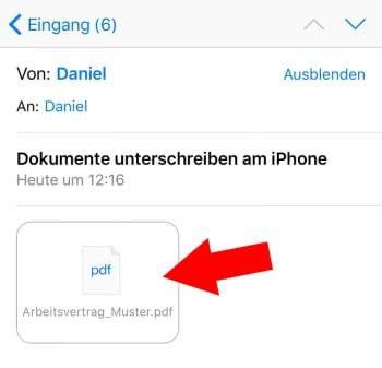 PDF-Dokument aus Mail öffnen