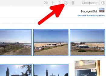 Fotos von iPhone auf PC übertragen via iCloud