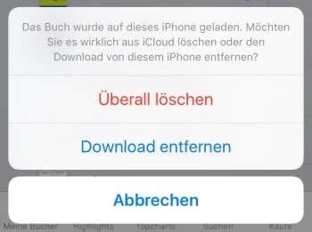 PDF aus iCloud oder vom iPhone löschen