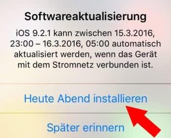 iOS-Update automatisch über Nacht installieren