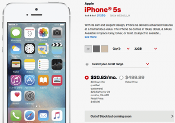 Das iPhone 5s wird nicht mehr verkauft