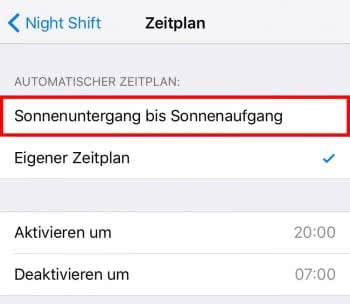 Night Shift: Sonnenuntergang bis Sonnenaufgang