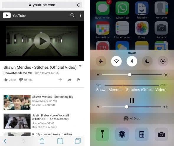 YouTube Musik hören im Hintergrund