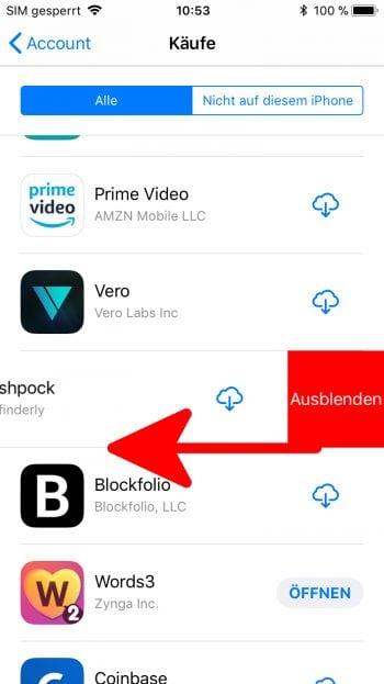 app store kaeufe verstecken ausblenden