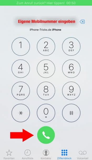 iPhone Anruf aufnehmen