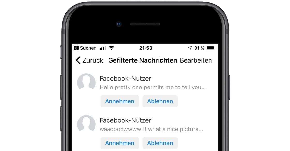 Nicht facebook nachricht befreundet gelesen Facebook nachrichten