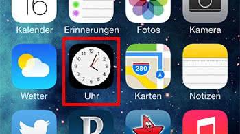 Uhr-Icon mit aktueller Uhrzeit