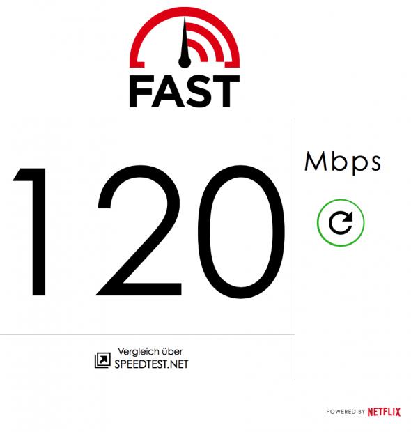 Netflix erlaubt das Prüfen der Internetgeschwindigkeit mit Fast.com