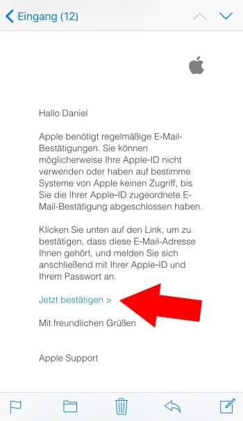 e-mail-adresse bestätigen